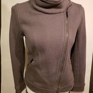 Gap Zip up Jacket Wrap around Neck Gray szM